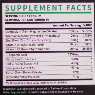 Best testosterone booster ingredients